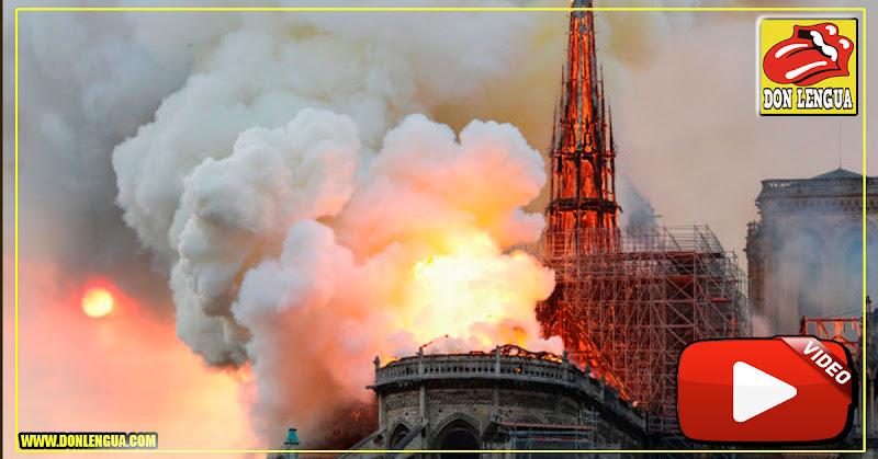 Incendio arrasó la Catedral de Notre Dame en París