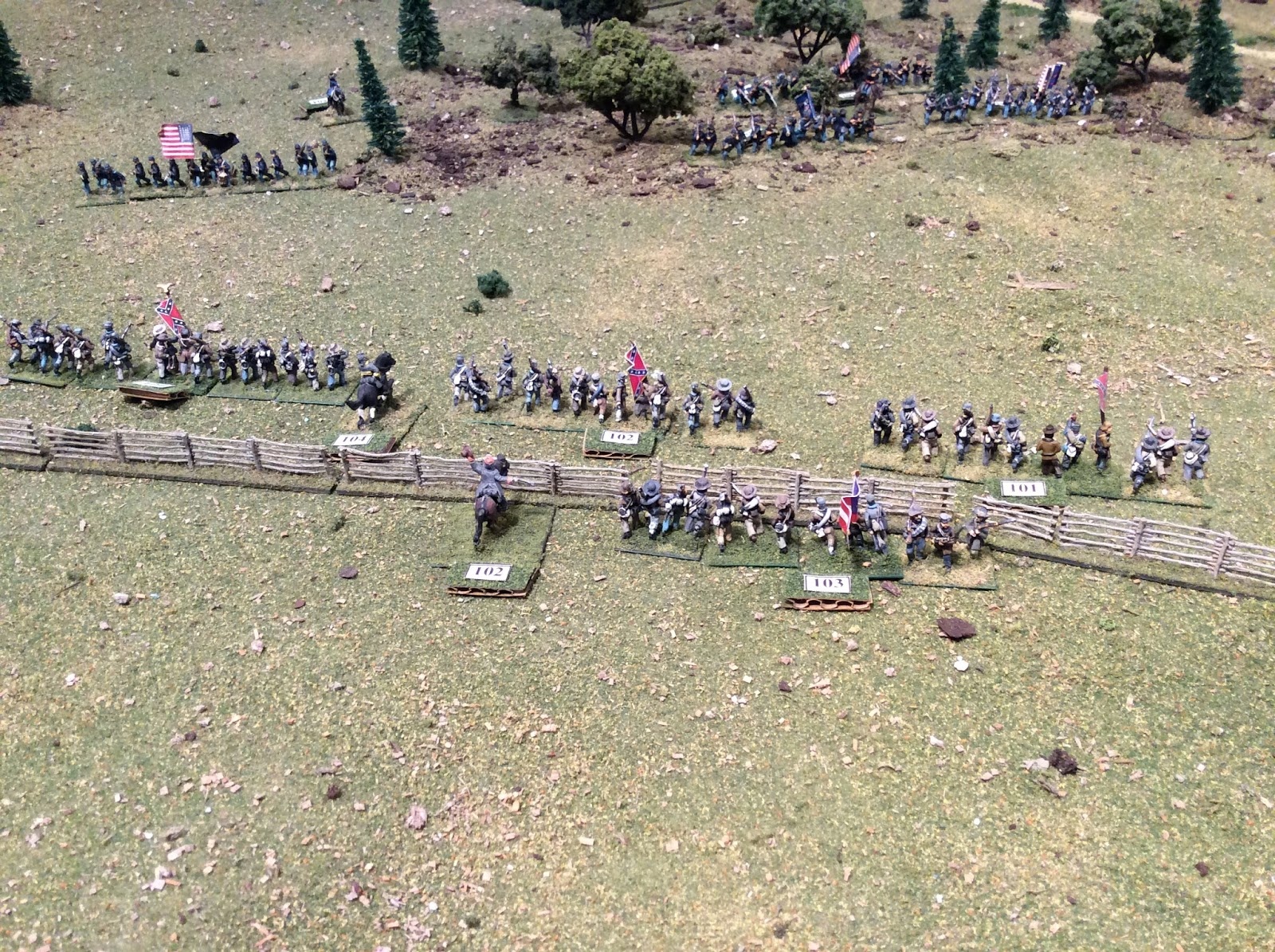 Jubal Early's brigade begins to advance