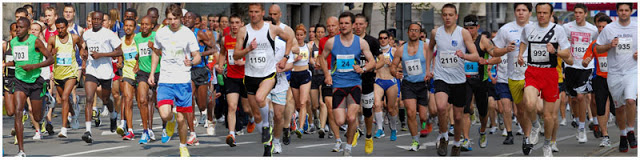 Beogradski maraton - start.