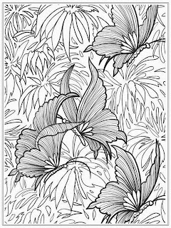 Free Butterfly Adult Coloring Pages