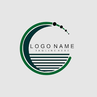 Flat Striped Circle Logo Template Free Download Vector CDR, AI, EPS and PNG Formats