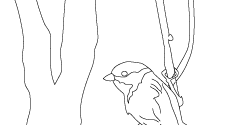 Printable Coloring Book Pages: Cheerful Chickadee Coloring