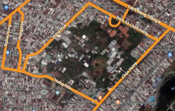 Khu vực vườn rau Lộc Hưng, phường 6, Tân Bình