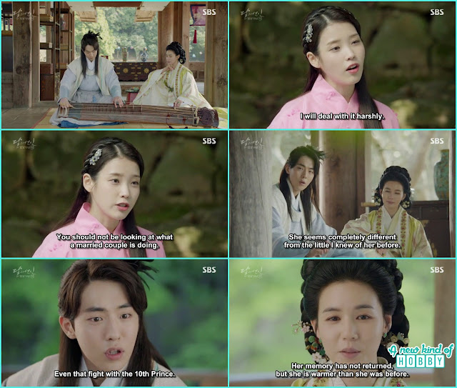 wang woo baek a was close to princess Myung hee the wife of 8th prince, hae so mimics princess yeon hwa  - Moon Lovers: Scarlet Heart Ryeo - Episode 3 Review