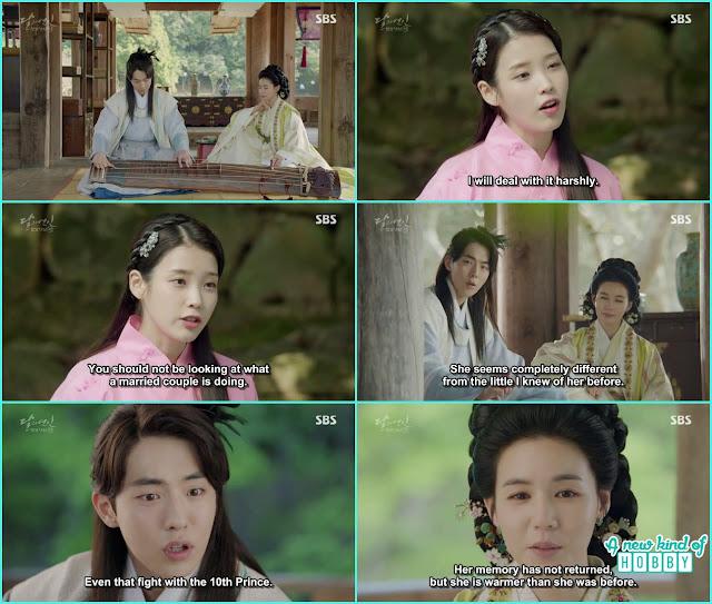 wang woo baek a was close to princess Myung hee the wife of 8th prince, hae so mimics princess yeon hwa  - Moon Lovers: Scarlet Heart Ryeo - Episode 3 Review
