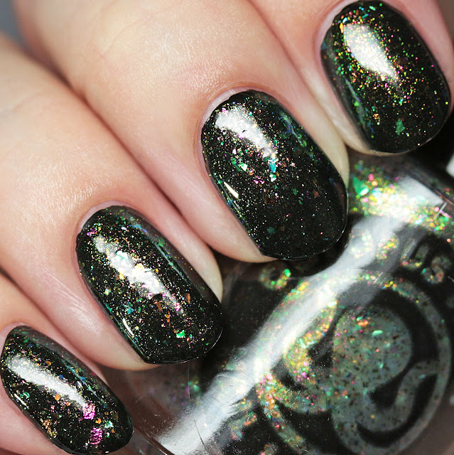 Octopus Party Nail Lacquer Run This Bayou over black