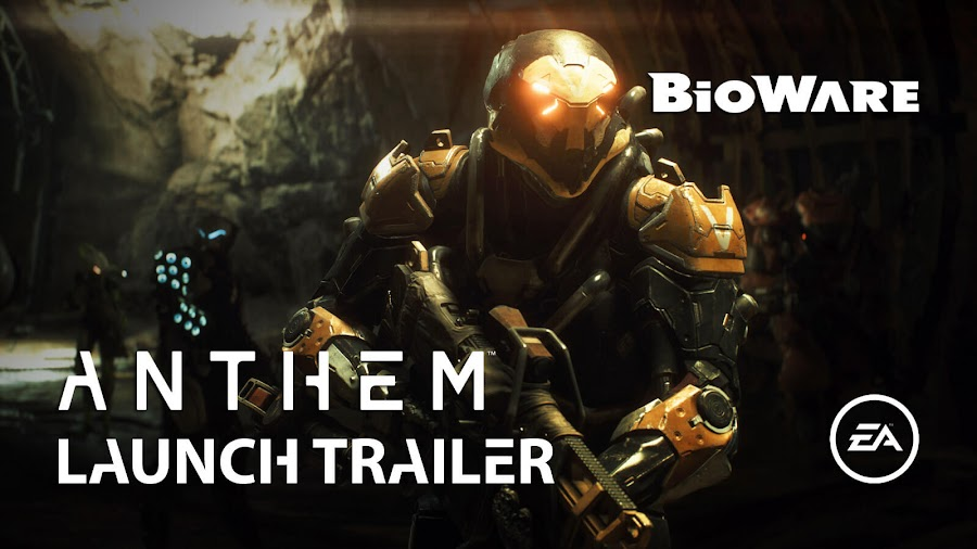 anthem launch trailer bioware