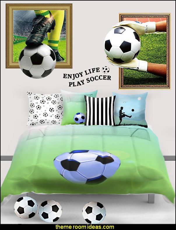 soccer bedding soccer pillows soccer wall mural decals soccer bedrooms