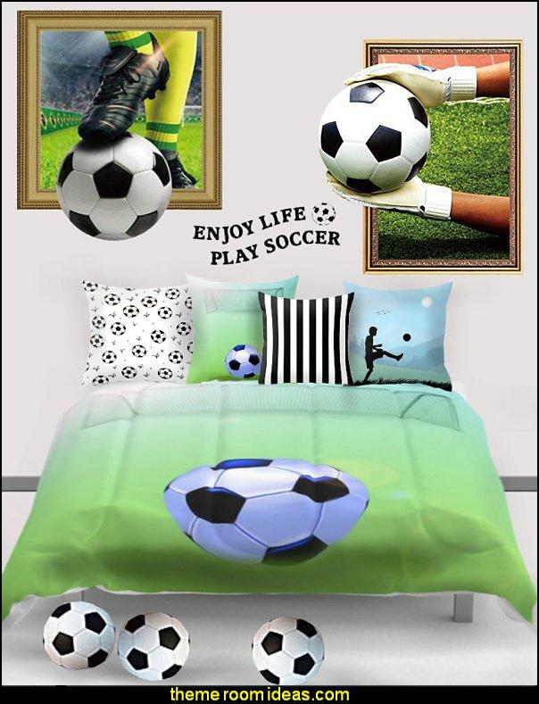 soccer bedding soccer pillows soccer wall mural decals soccer bedrooms