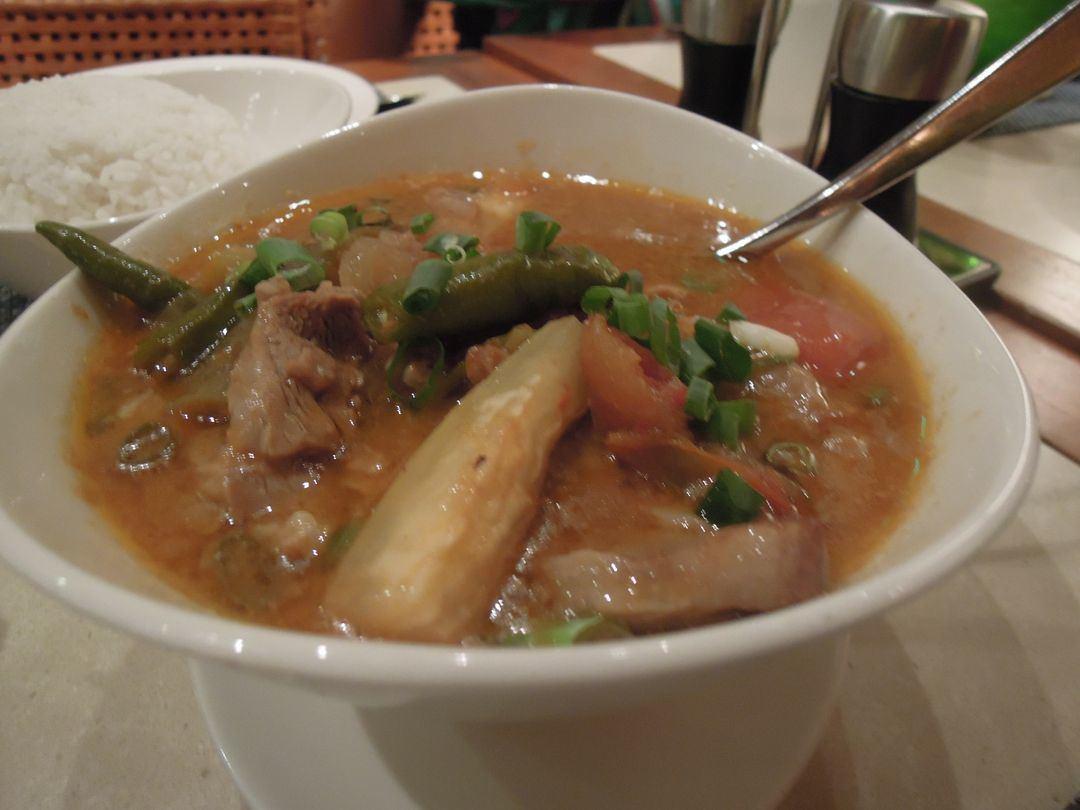 Sinigang at Acqua Restaurant at Shangri-La's Mactan Resort and Spa