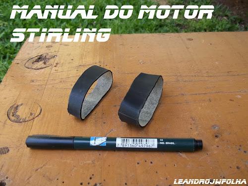 Manual do motor Stirling, borracha para a vedação do pistão de trabalho