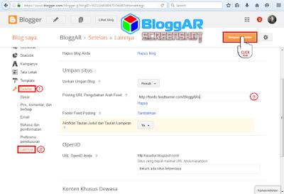 Memasang URL FeedBurner Blog