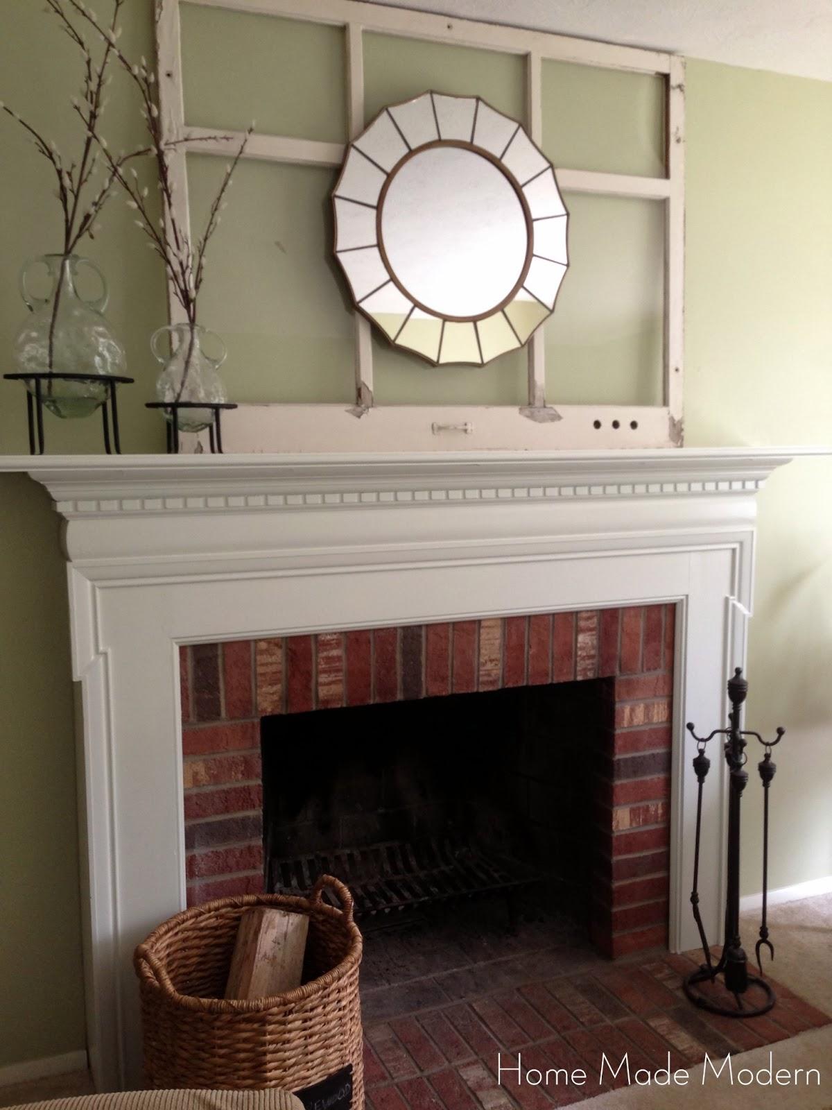 Shabby Chic Brick Fireplace   Modern Diy Art Designs