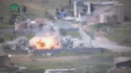 Video: Aksi Rudal Ahrar Syam Ledakkan Tentara Syiah Assad di Selatan Aleppo