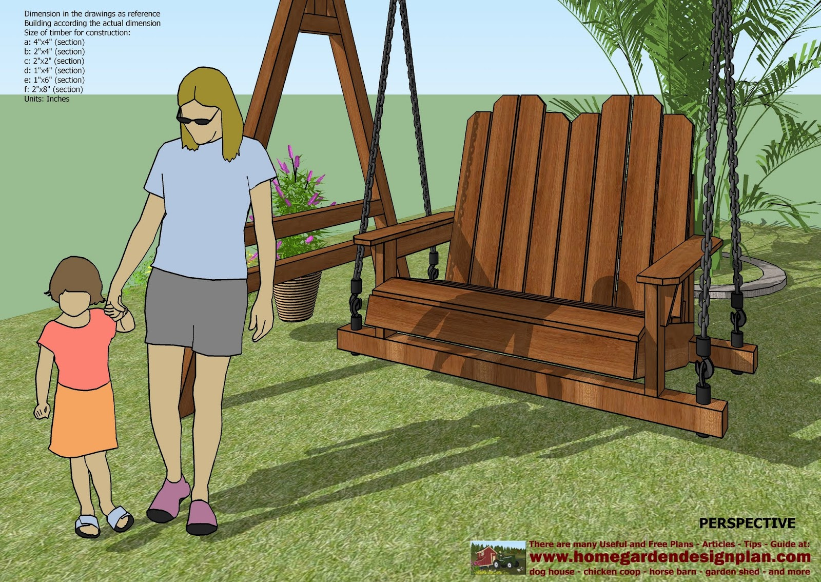 swing chair drawing target bar chairs cath easy outside wood furniture plans us uk ca