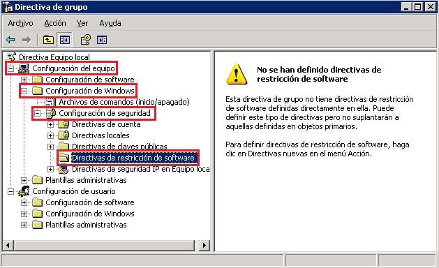 GPO: Deshabilitar el uso de Internet Explorer sobre Windows XP