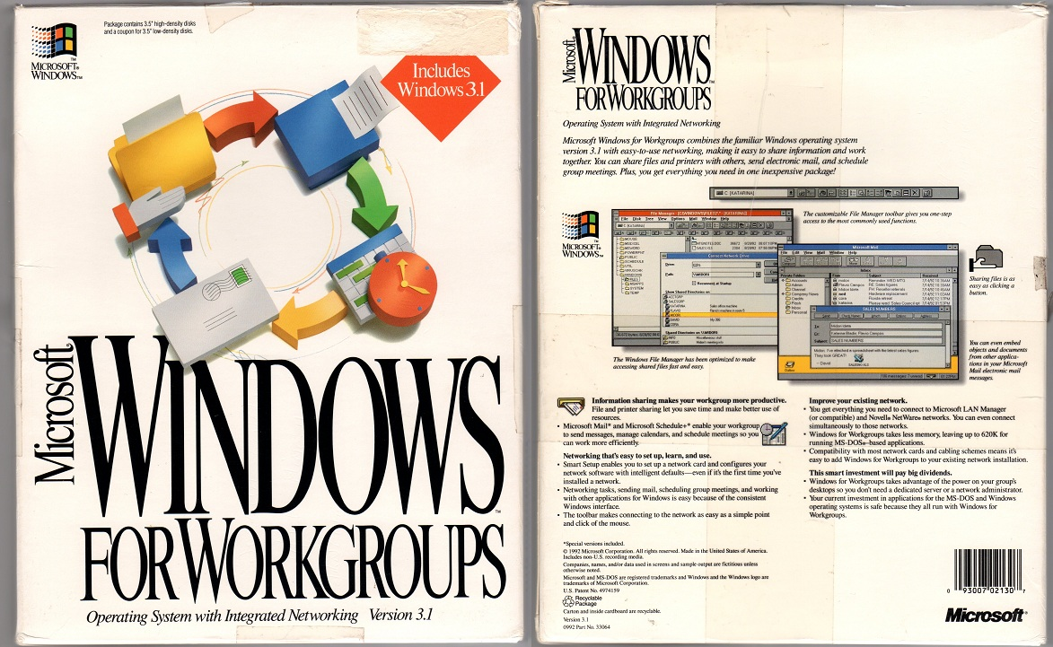 Windows 3.1 For Workgroups