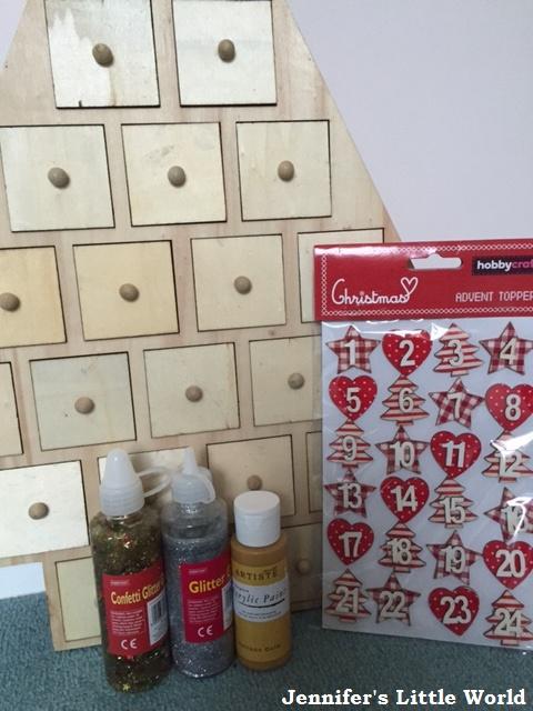 Decorating A Wooden Hobbycraft Advent Calendar