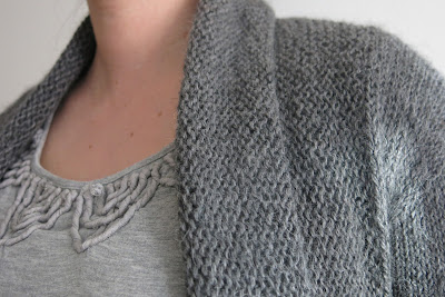 shawl front cardigan knitting pattern