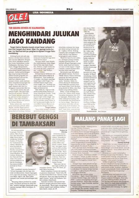 LIGA INDONESIA: TUR GELORA DEWATA KE KALIMANTAN