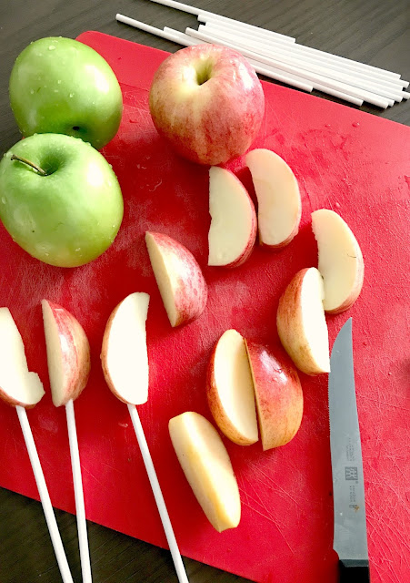 Fresh apples for an Apple Bar.