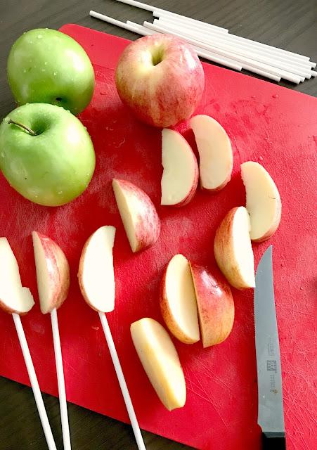 Fresh apples for an Apple Bar.