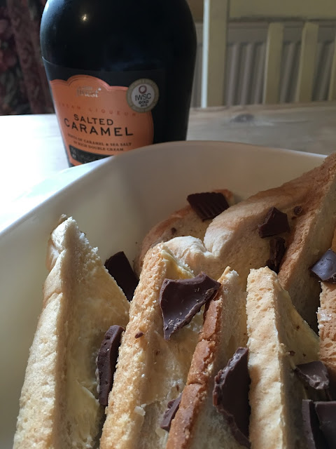 salted caramel liqueur and bread and butter pudding recipe