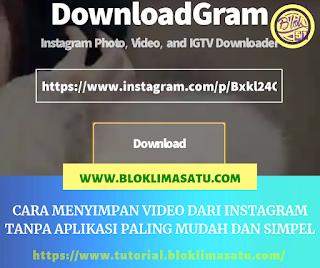 Cara doenload video dari instagram