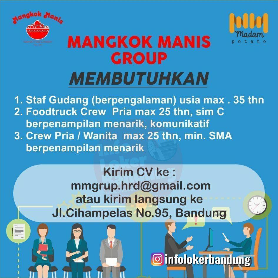 Lowongan Kerja Mangkok Manis Group Bandung Mei 2019