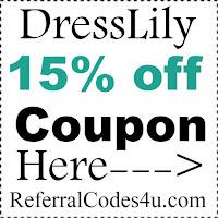 DressLily.com Coupon Code 2017, DressLily Promo Code January, February, March, April