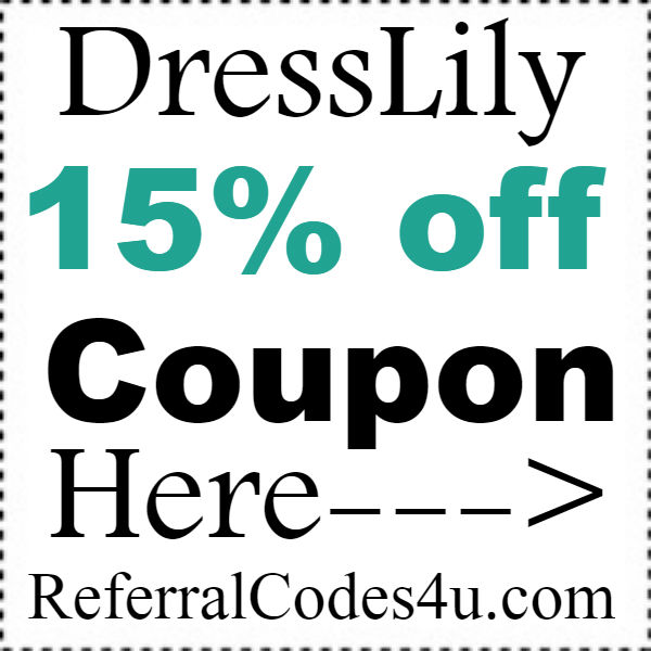DressLily.com Coupon Code 2019, DressLily Promo Code January, February, March, April