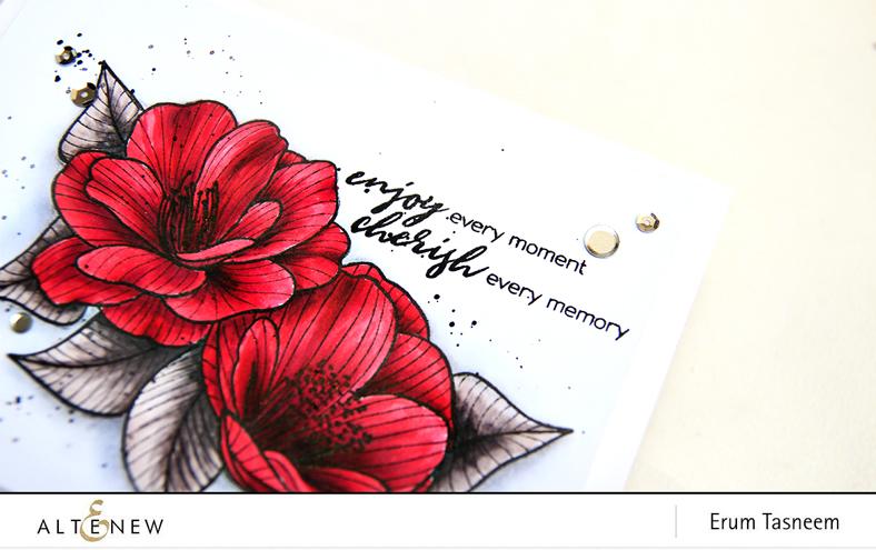 Altenew Cherished Memories Stamp Set | Artist Markers | Erum Tasneem | @pr0digy0