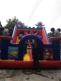 wahanaballoons tempat produksi balon loncat lokal 4 x 6