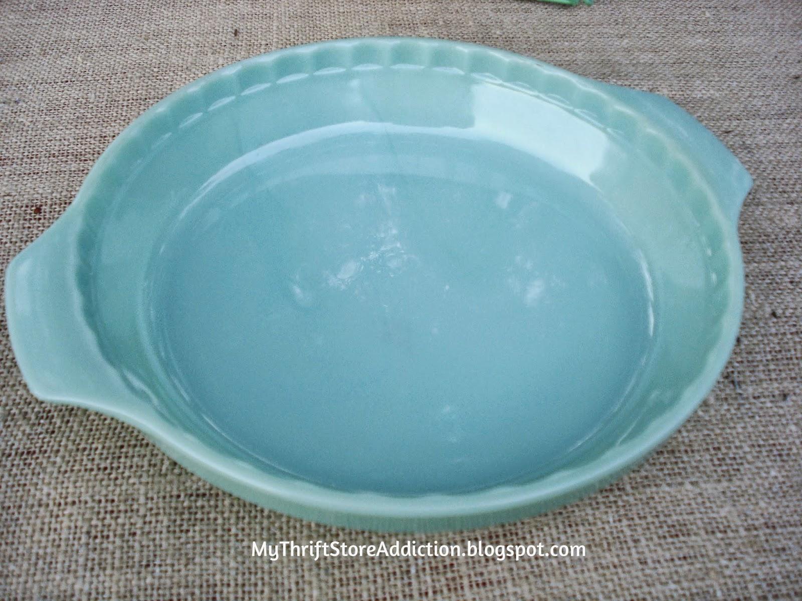 vintage Jadeite pie plate