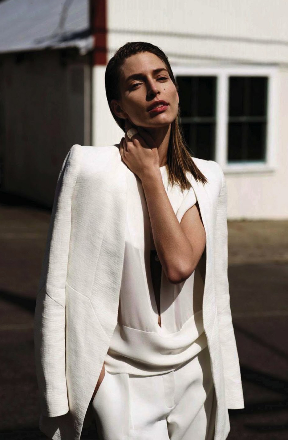 Best quotes about fashion and style from fashion designer Narciso Rodriguez + Linda Jeering wearing Narciso Rodriguez in Sheer Elegance / Vogue Netherlands June 2013 (photography: Annemarieke Van Drimmelen, styling: Dimphy Den Otter) via www.fashionedbylove.co.uk british fashion blog