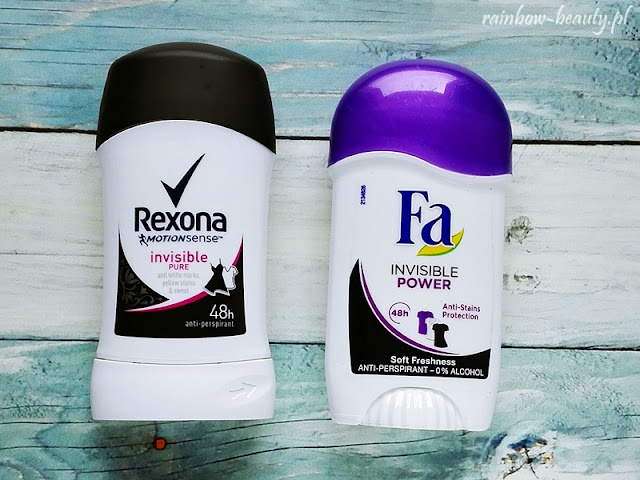 Rexona Antyperspirant Invisible Pure, FA Antyperspirant Invisible Power
