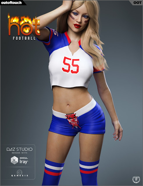 HOT Football Outfit for Genesis 3 Female
