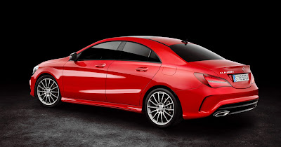 Mercedes CLA Facelift red color Hd Images