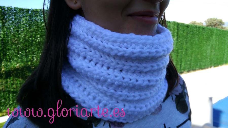 cuello o bufanda de ganchillo