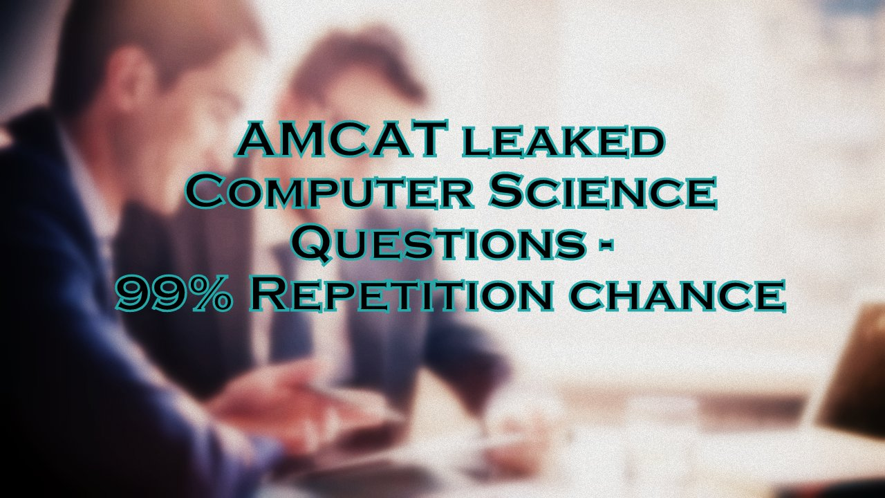 AMCAT leaked Computer Science Questions | 99% Repetition