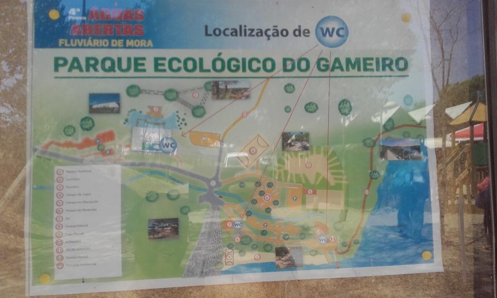 Placa informações Parque Ecológico Gameiro
