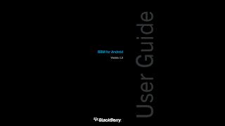 BBM User Guide untuk Android