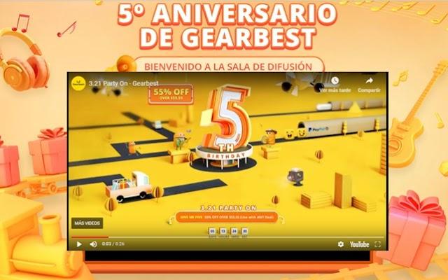 ▷¡Más Cupones, Rebajas y Promociones en este 5º Aniversario de GearBest!