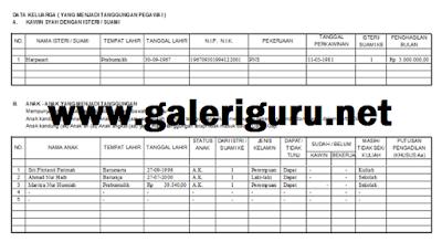 Download Format Aplikasi KP4 PNS Terbaru - Galeriguru.net