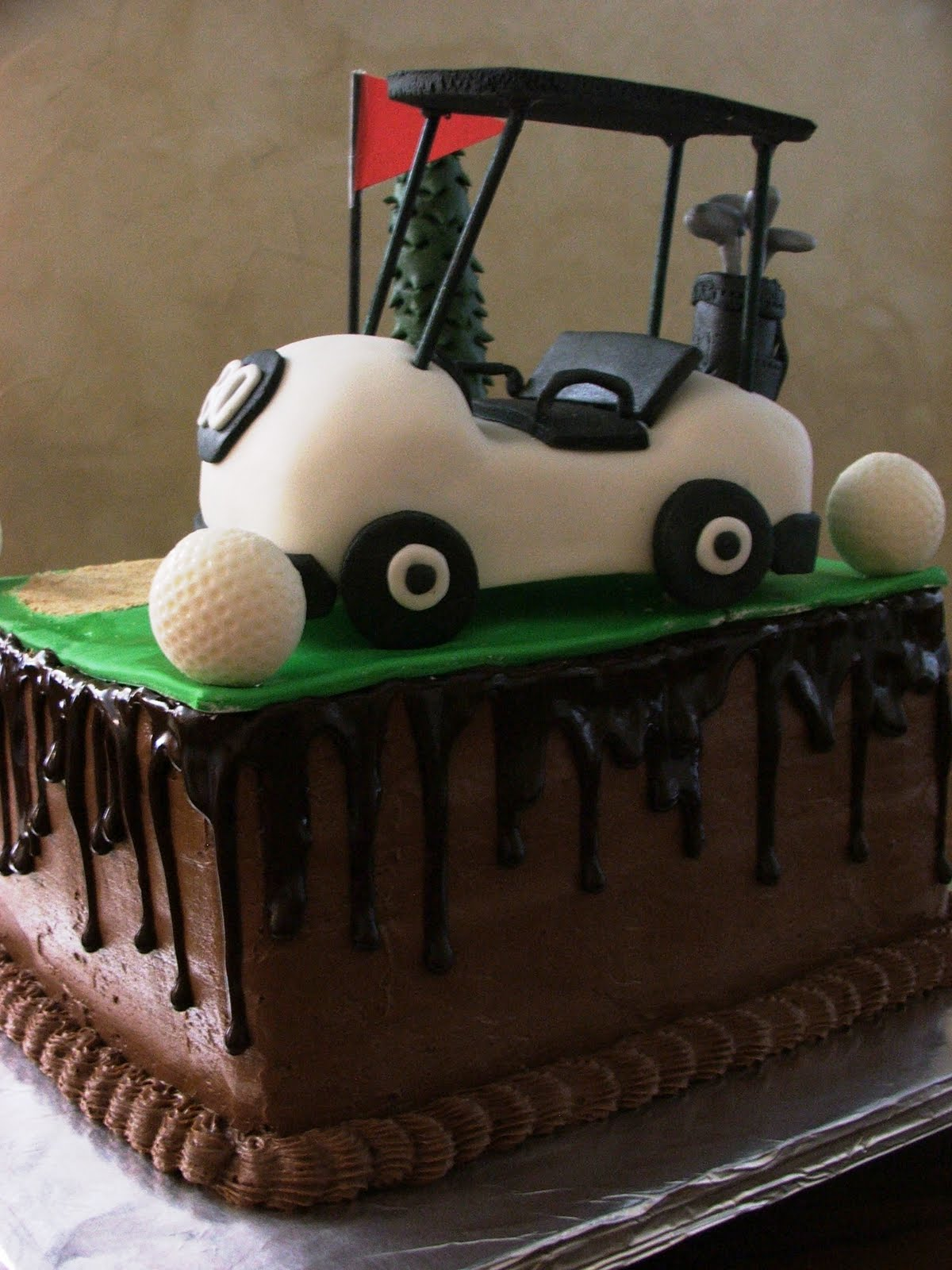 Frosted Insanity: 80th Birthday Golf Cake