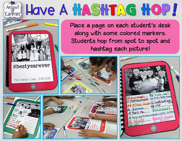 How to make a hashtag memory book for the teacher! Have a Hashtag Hop!