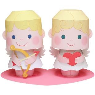 Free Printable Beautiful cupid 3D Paper Toys  | Oh My Fiesta