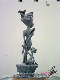 """pierre rouzier_sh-betty boom - """"the spaceship is over there"""" maquette"""