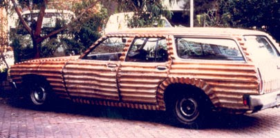 Jeff Thompson station wagon sculpture