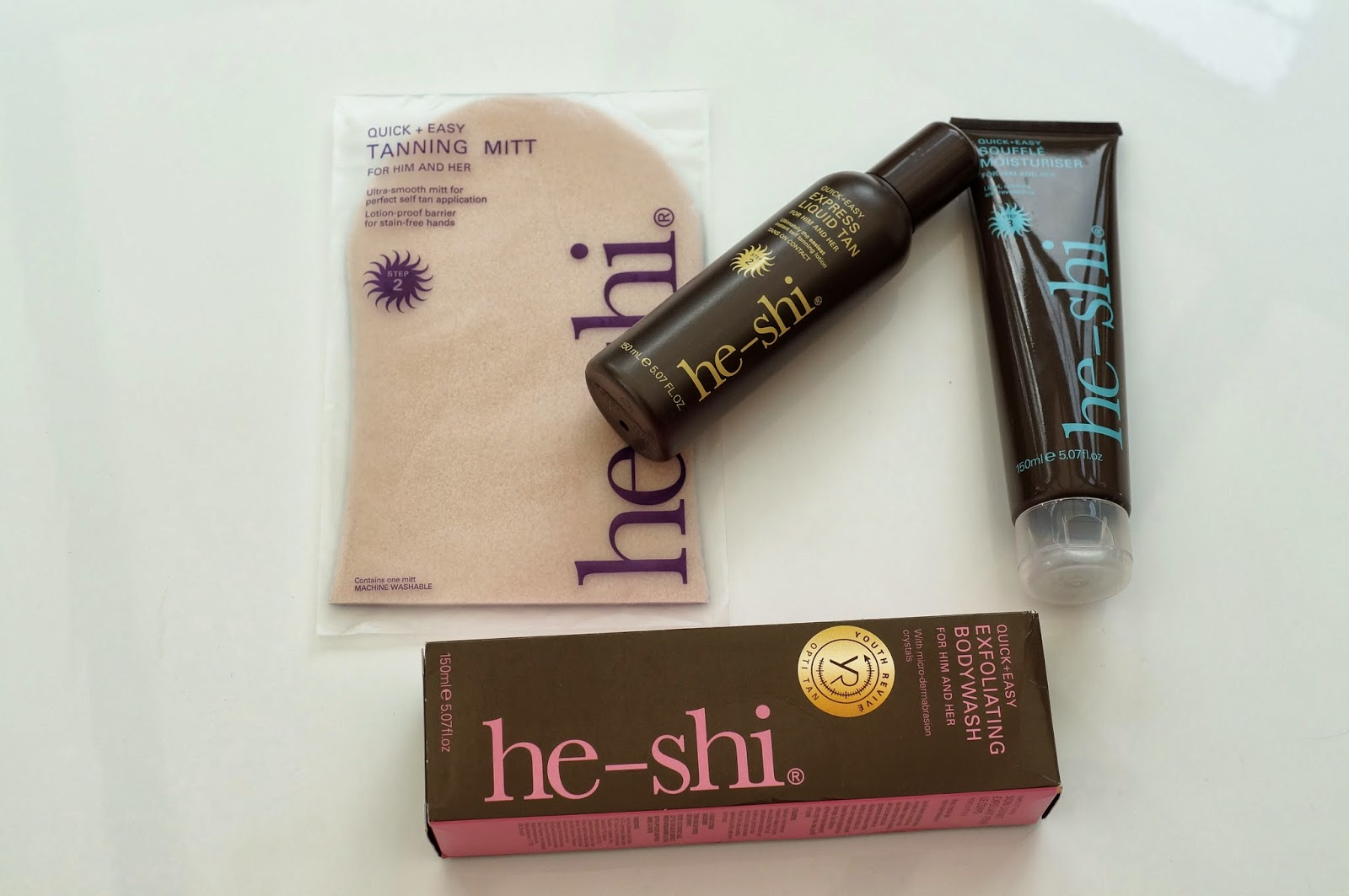 he-shi fake tan set